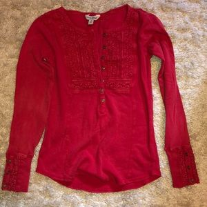 🍀Lucky Brand Long Sleeve Top Size S